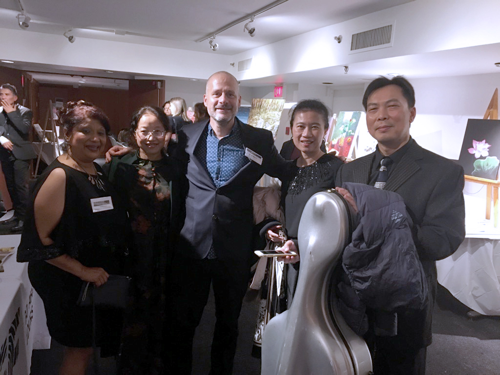 From Left: Dorothy, Wendy Ding, Paul, artist Robert Huang