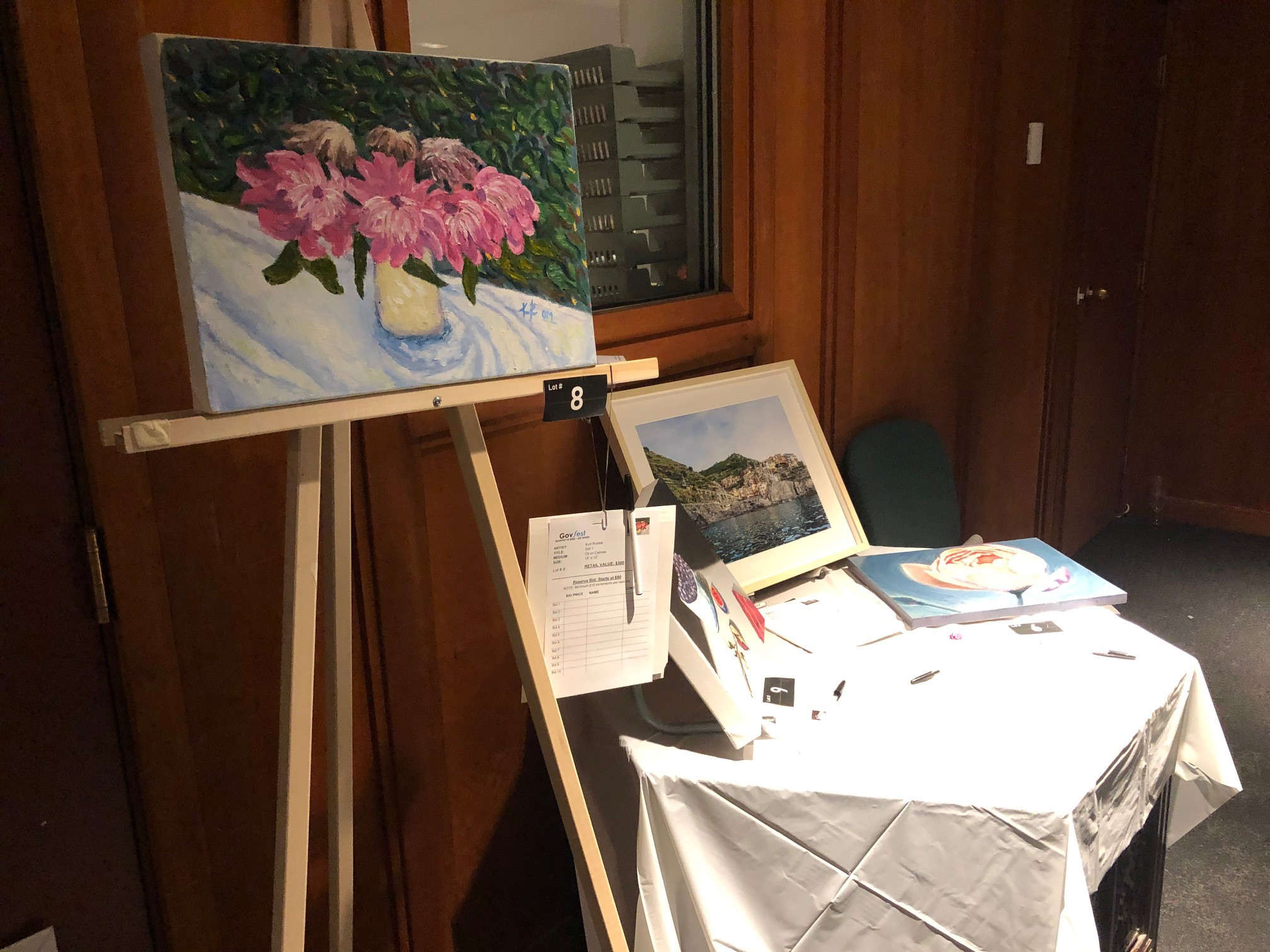 A sampling of the art available at the silent auction